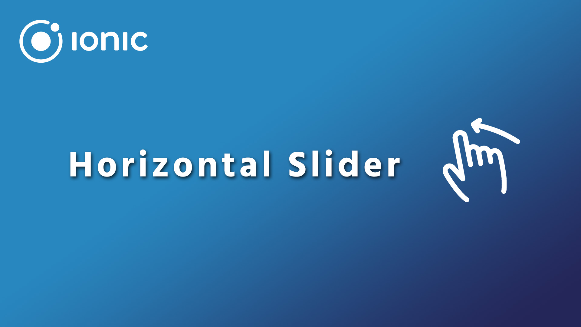 Creating a horizontal slider in Ionic 4